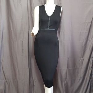 Zara W&B Collection Midi Pencil Bodycon dress